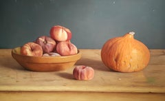 Realist Contemporary Still-Life painting 'Wild Peaches' by Mark Lijftogt