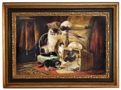Cats - Mark Majer Oil on Canvas Italian Animal Painting