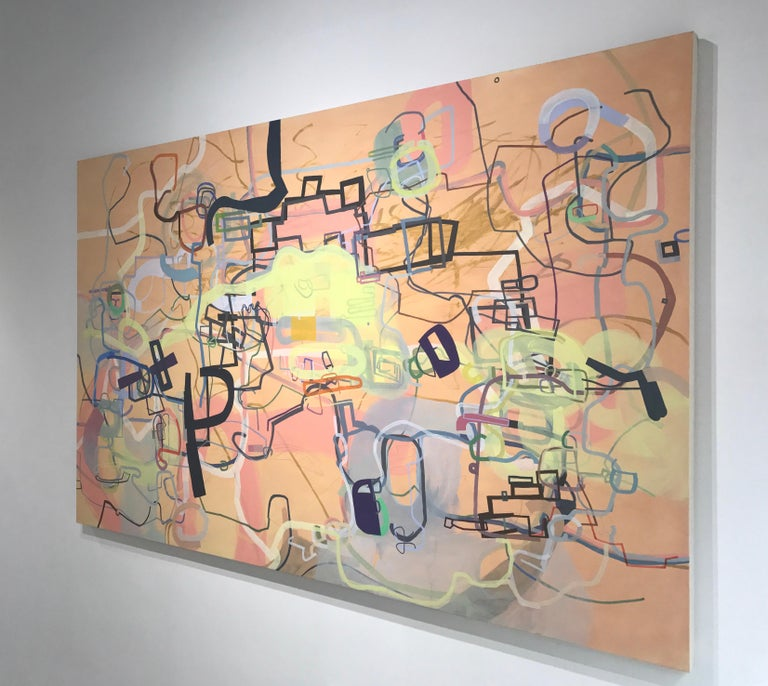 A History of the World in Six Easy Installments - Brown Abstract Painting by Mark Masyga