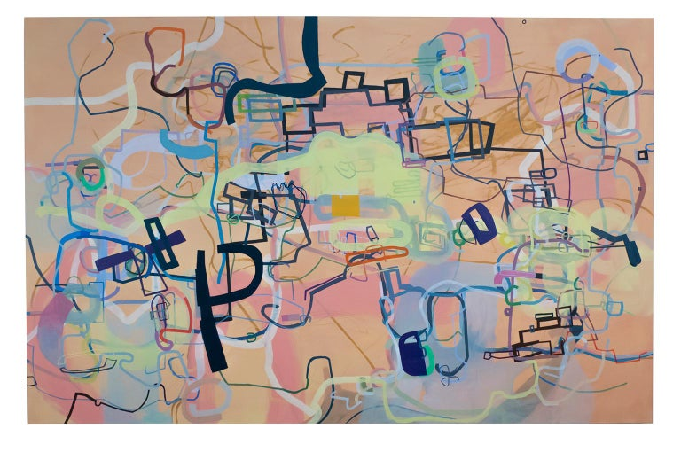 Mark Masyga Abstract Painting - A History of the World in Six Easy Installments