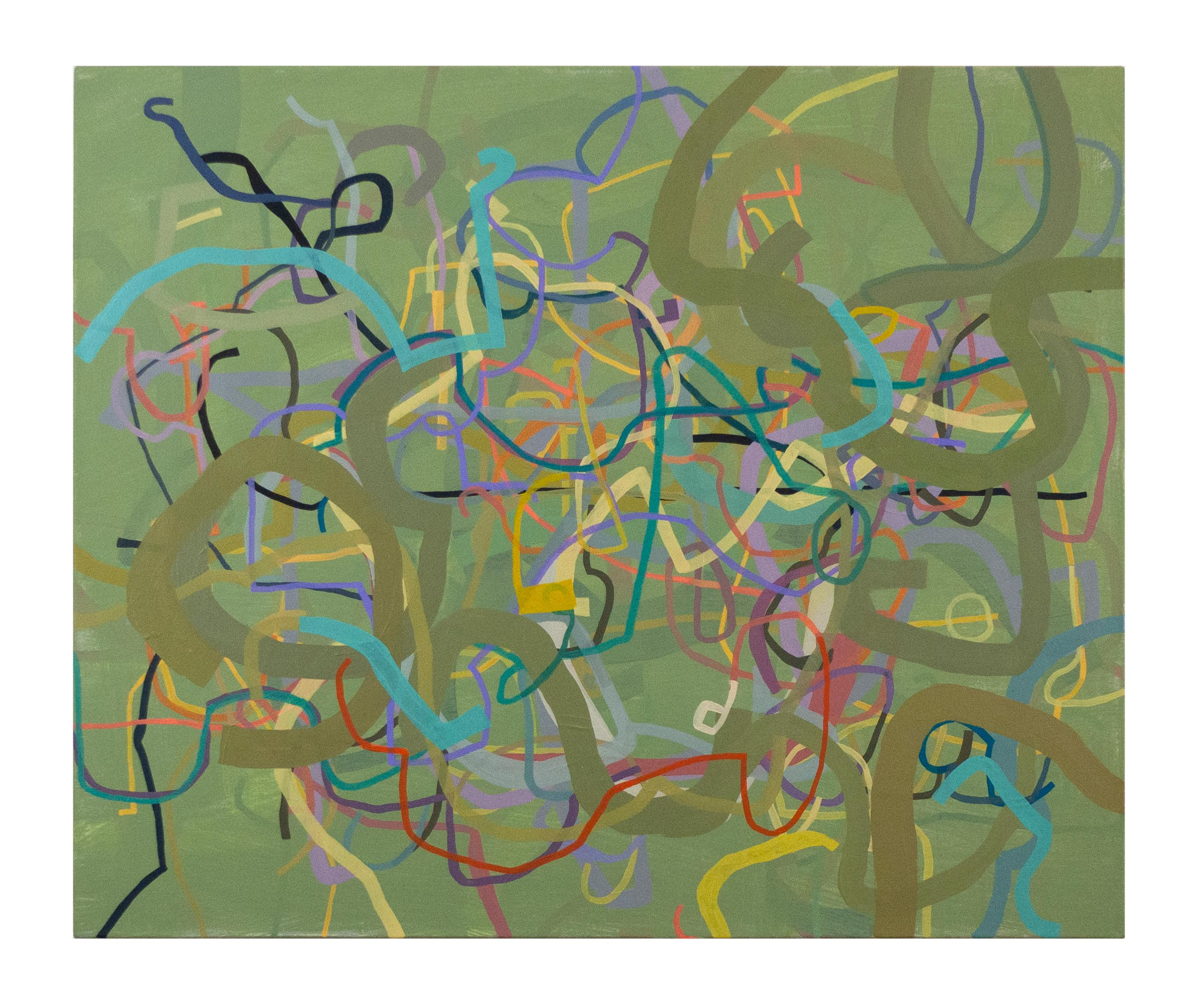 """""""Centuries of Dandy Nannies"""" Abstract Painting (green)"""