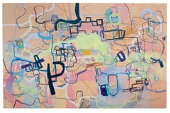 """Large Scale Abstract Painting """"A History of the World in Six Easy Installments"""""""