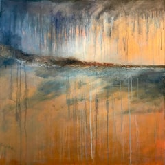 Dreich Day - Contemporary Seascape Painting by Mark McCallum