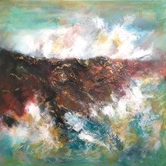 Hushinish Cliffs, Isle of Harris - Seascape Painting by Mark McCallum