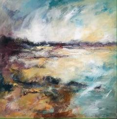 Lunan Beach Angus - Contemporary Seascape Painting by Mark McCallum