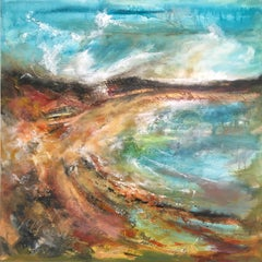 Scarista Bay - Contemporary Seascape Painting by Mark McCallum