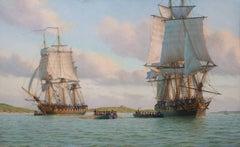 H.M. Ships Cossack and Comet Landing Troops at Santander, June 23, 1808