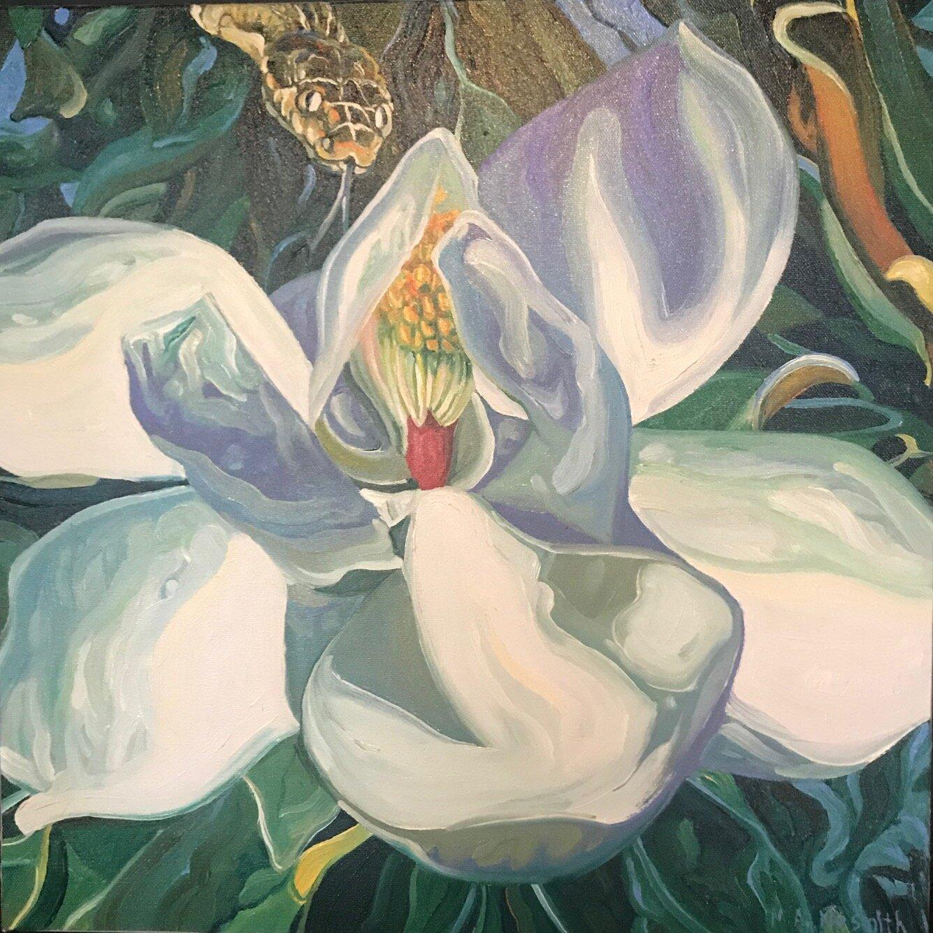 The Garden of Good & Evil, Texan Artist, Oil, Wildlife personifying Human Traits