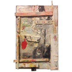 Mark Palmer Construction #2 2018, Acrylic / Found Objects on Wood