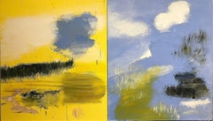 Yellow into Blue (Diptych)
