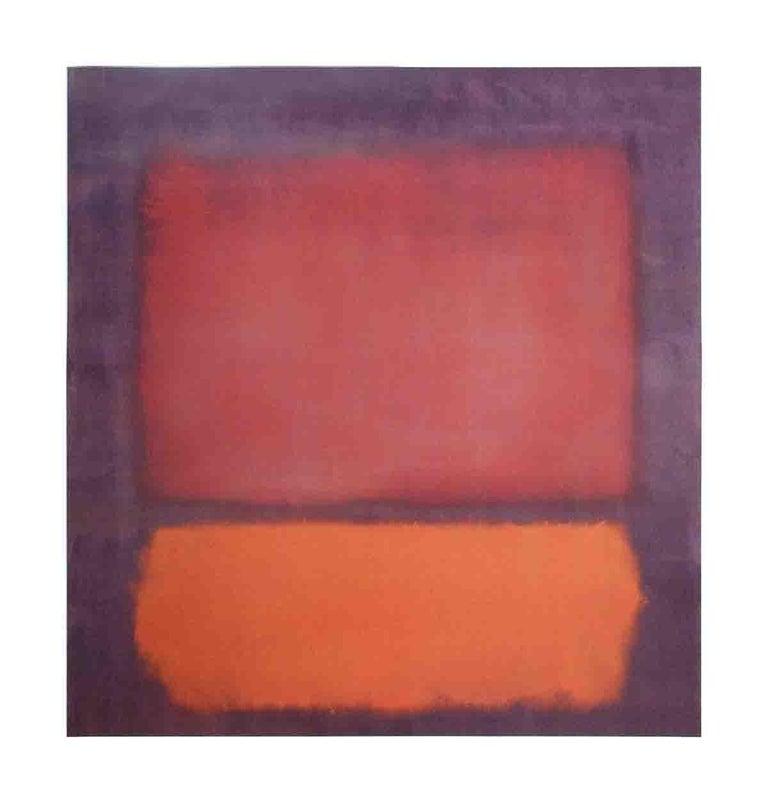 1998 Mark Rothko 'Untitled (1962)' Modernism Red,Orange,Purple Germany Offset  - Print by Mark Rothko
