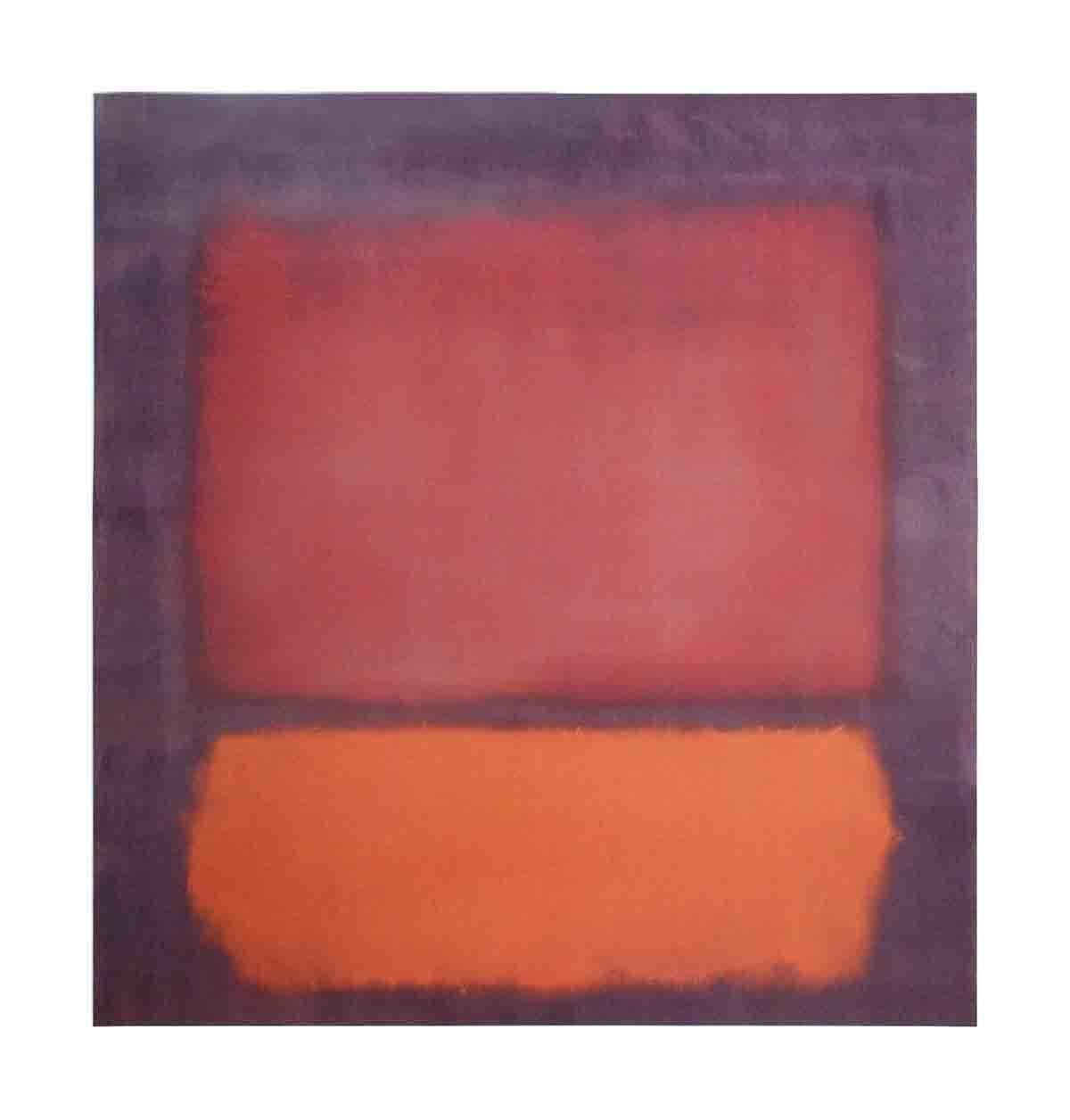 1998 Mark Rothko 'Untitled (1962)' Modernism Red,Orange,Purple Germany Offset