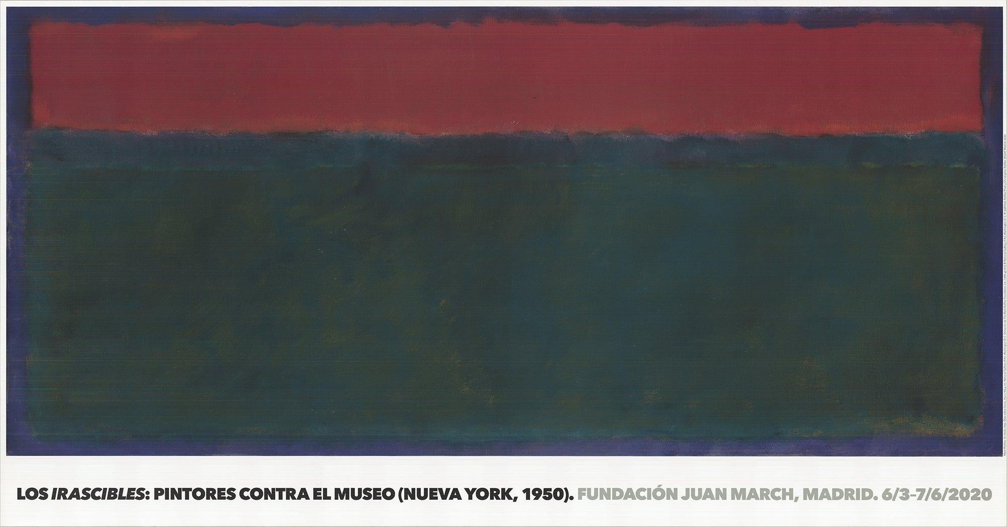2020 After Mark Rothko 'Untitled, 1952' Contemporary Spain Offset Lithograph
