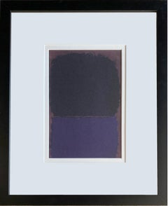 'Untitled,' Purple and Black Color Fields by  Mark Rothko, Special Lithograph