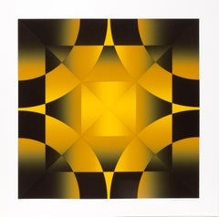 Gamut, Op Art Screenprint by Mark Rowland