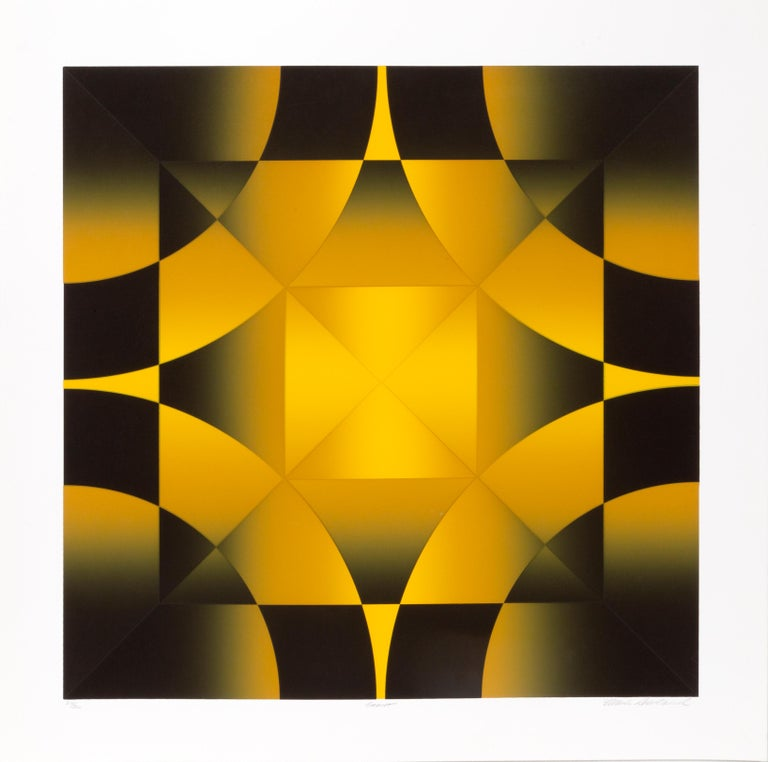 Artist: Mark Rowland, American (1953 - ) Title: Gamut Year: circa 1980 Medium: Screenprint, signed, numbered, and titled in pencil Edition: 214/300 Image Size: 25 x 25 inches Size: 30 x 30 in. (76.2 x 76.2 cm)