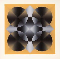 Motive, Op Art Screenprint by Mark Rowland