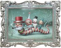 MARK RYDEN: Santa Worm - Lowbrow art, Surrealism, Americana