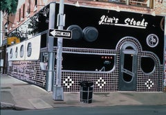 Jim's Steaks  -- Original Oil Painting -- Please watch attached video