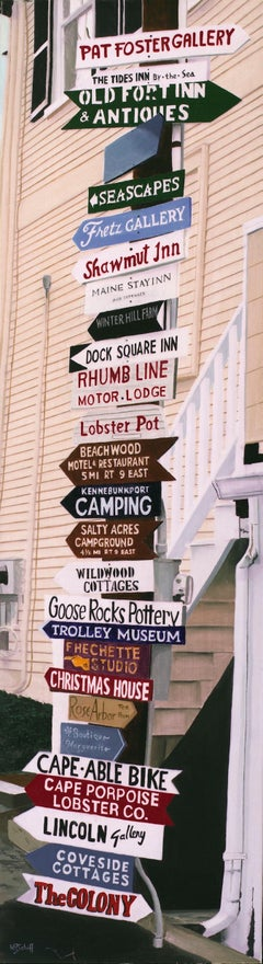 Kennebunkport Signs (Original Oil Painting)