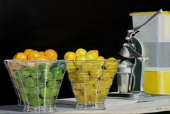 Sweet and Sour Original Oil Painting by Photorealist Mark Schiff