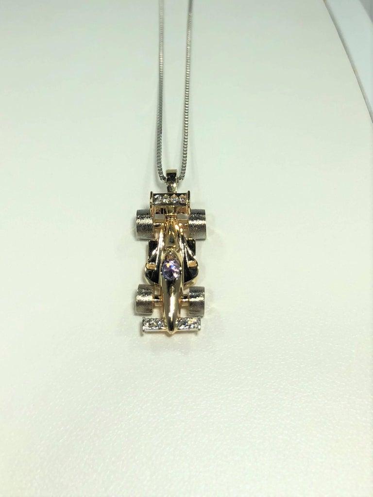 Mark Schneider Limited Creation 14 Karat Diamond And Tanzanite Indy