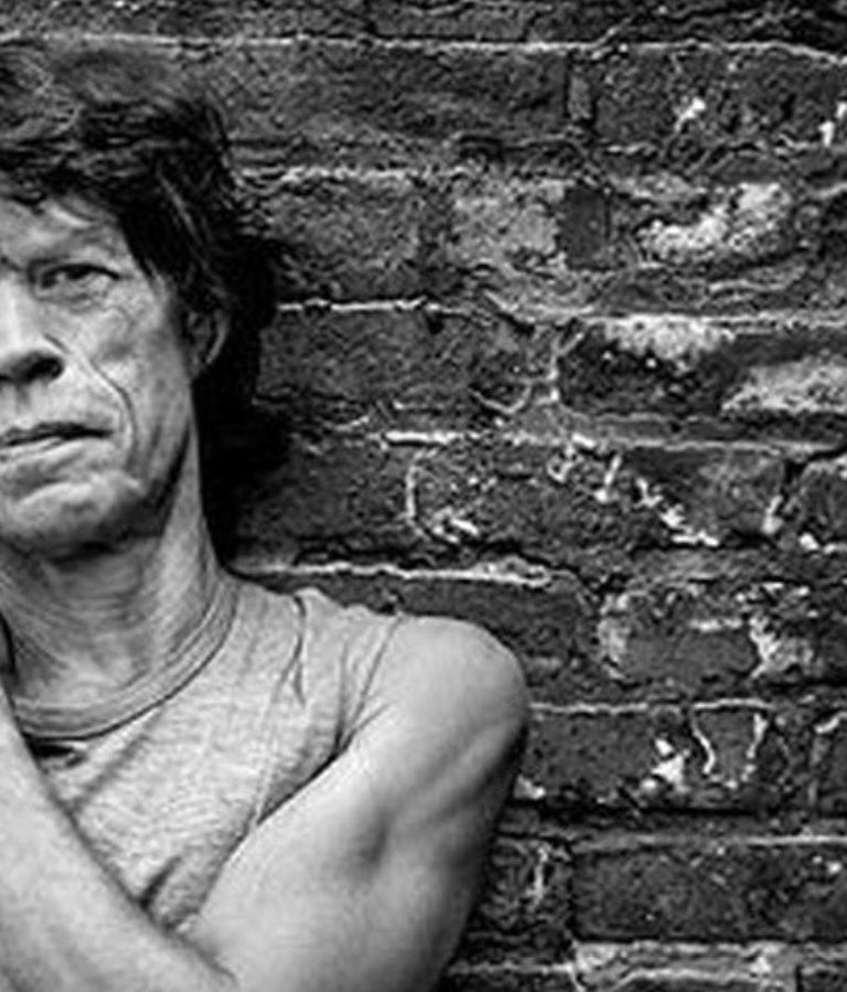 Mick Jagger - b&w portrait of the Rolling Stone music legend and rock star - Black Portrait Photograph by Mark Seliger
