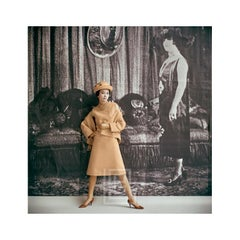 1920's Backdrop, Orange Amere Ensemble by Dior, 1961