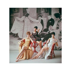 1920's Backdrop, Three Minidresses Seated, 1961
