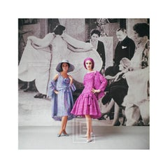 1920's Backdrop, Two Models Blue and Pink by Dior, 1961
