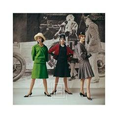1920's Backdrop, Vert Gazon, Gavroche, and Flirt by Dior, 1961