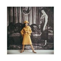 1920's Backdrop, Yellow Amere Ensemble by Dior, 1961