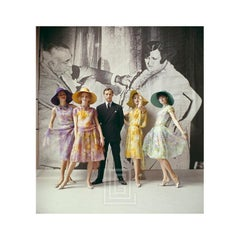 20's Backdrop, Mark Bohan with Models in Dior, 1961