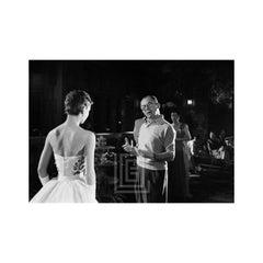 Audrey Hepburn and Director Billy Wilder on the set of Sabrina, 1953
