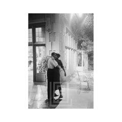 Audrey Hepburn and Director Billy Wilder on the set of Sabrina, Hug, 1953