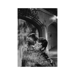 Audrey Hepburn and William Holden on Set of Sabrina, Embrace, 1953