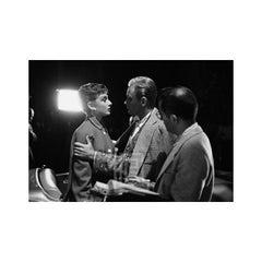 Audrey Hepburn and William Holden on Set of Sabrina, Hand on Arm, 1953
