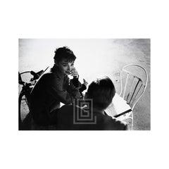 Audrey Hepburn and William Holden on Set of Sabrina, Run Lines, 1953