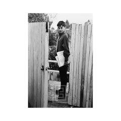 Audrey Hepburn at Apartment Gate, 1953