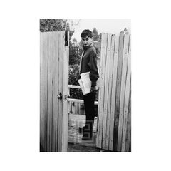 Audrey Hepburn at Apartment Gate, 1953