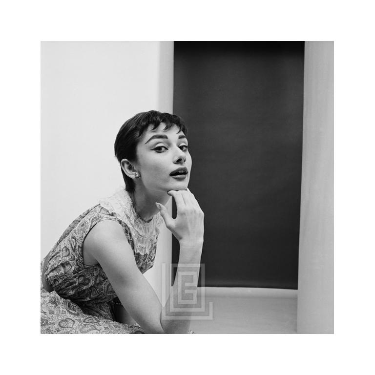 Audrey Hepburn Head Resting on Hand, 1954 1