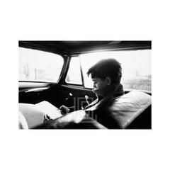 Audrey Hepburn in Car Writing, 1953