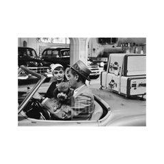 Audrey Hepburn in Convertible with Bill Holden, 1953.