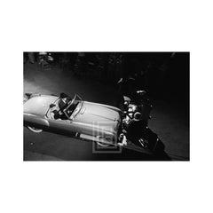Audrey Hepburn Inside Convertible, 1953
