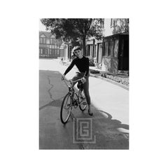 Audrey Hepburn on Bicycle, Smiling, 1953