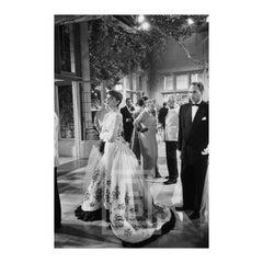 Audrey Hepburn Stands in Ballgown, 1953