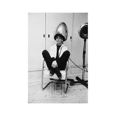 Audrey Hepburn Under the Dryer Smoking, 1953
