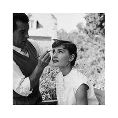 Audrey Hepburn, Wally Westmore on the Set of Sabrina, Looking Up, 1953
