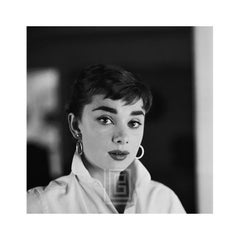 Audrey Hepburn White Shirt Portrait, 1954