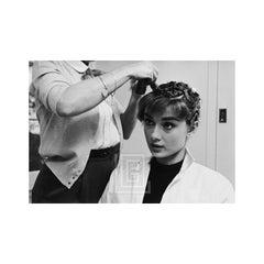 Audrey Hepburn with Curlers, Front, 1953